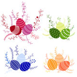 Vector easter compositions Royalty Free Stock Image