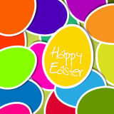 Vector Easter egg card Stock Photo