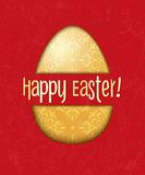Vector easter egg card Royalty Free Stock Photography