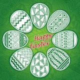 Vector easter eggs card. Happy Easter. Stock Photo