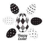 Vector easter eggs set Stock Photos
