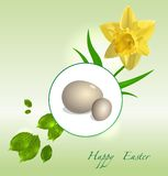 Vector Easter floral background Royalty Free Stock Images