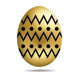 Vector Easter Golden Egg isolated on white background. Colorful Egg with Dots Pattern. Realistic Style. Vector illustration. stock illustration