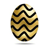 Vector Easter Golden Egg isolated on white background. Colorful Egg with Dots Pattern. Realistic Style. Vector illustration. vector illustration