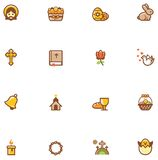 Vector Easter icon set Royalty Free Stock Images