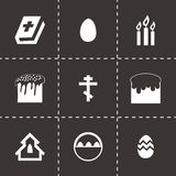 Vector easter icons set Stock Photo