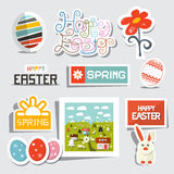 Vector Easter Isolated Symbols - Objects Set Royalty Free Stock Photos