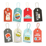 Vector Easter Isolated Tags Royalty Free Stock Photos