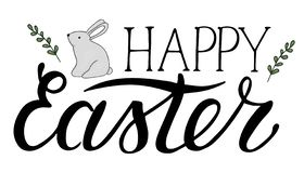 Vector Easter lettering royalty free illustration