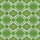 Vector easter pattern of cute funny rabbits. Stock Photography
