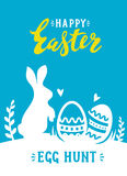 Vector easter poster. With cute banny and text Royalty Free Stock Images
