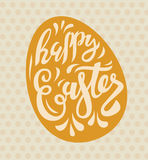 Vector easter poster. With cute text lettering Royalty Free Stock Photos
