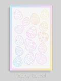 Vector Easter poster. Vector Easter postcard or poster with coloured eggs. Can be used as background Royalty Free Stock Images