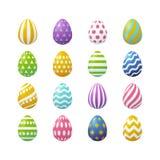 Vector Easter realistic eggs set. Vector illustration, big set of 3d realistic Easter eggs. Eps 10 file Stock Photos