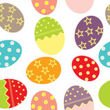 Vector Easter Seamless pattern with eggs Royalty Free Stock Image
