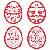 Vector Easter set for design. beautiful eggs Stock Photos
