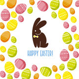 Vector easter simple graphic flat illustration. Royalty Free Stock Photography