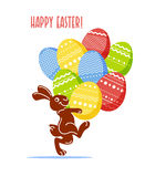 Vector easter simple graphic flat illustration. Stock Images