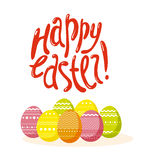 Vector easter simple graphic flat illustration. Stock Photography