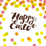 Vector easter simple graphic flat illustration. Stock Image