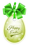 Vector Easter tag. Royalty Free Stock Photos