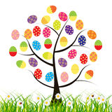 Vector easter tree with eggs Stock Photography