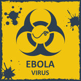 Vector ebola virus and biohazard sign. Format eps10 Stock Image
