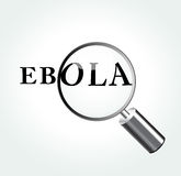 Vector ebola virus concept illustration Royalty Free Stock Images