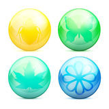 Vector eco buttons. Royalty Free Stock Photography