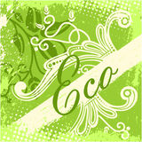 Vector eco design card Stock Photography