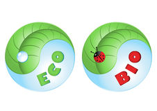 Vector eco en biopictogrammen Stock Afbeeldingen