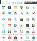 Vector Eco energy complex flat icon concept. Web infographic icons design. Stock Photos