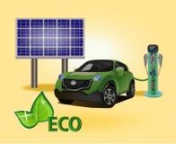 Vector eco environmental technology prolong the life of your descendants Stock Photos