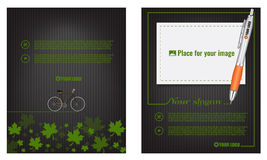 Vector eco flyer, poster, brochure, magazine cover template. Royalty Free Stock Image