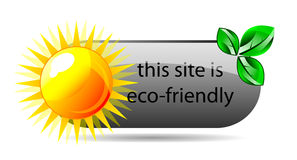 Vector eco friendly website icon Stock Image