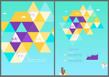 Vector eco geometric brochure template Stock Photo