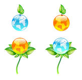 Vector eco globes Royalty Free Stock Photos