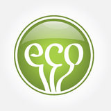 Eco green icon. Vector eco green eco icon Royalty Free Stock Images