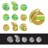 Vector eco green letter G logo elements Stock Photography