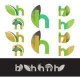 Vector eco green letter H logo elements Royalty Free Stock Photography