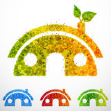 Vector Eco-House Royalty Free Stock Photography