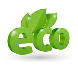 Vector eco icon Stock Images