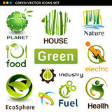 Vector eco icons Royalty Free Stock Photo