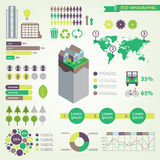 Vector eco infographic set Stock Photo