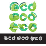 Vector ECO logo green illustration elements Stock Photos