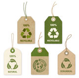 Vector Eco Price Tags. Five high detail grunge Vector Eco Price Tags Royalty Free Stock Images