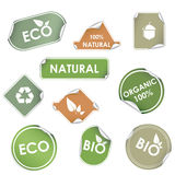 Vector eco recycling labels Stock Photography