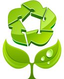 Vector eco sign Stock Images