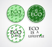 Vector ECO stamps Royalty Free Stock Photos