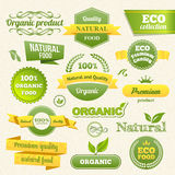 Vector Eco Stamps, Banners and Labels. Eco Style Vector Illustration